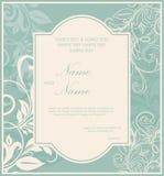 Ślubne zaproszenie rocznika karty Zdjęcie Royalty Free