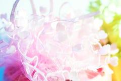 Ślubnego prezenta tekstura dekoruje Zdjęcia Stock