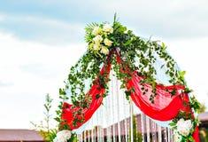 Ślubnej ceremonii dekoracja Zdjęcia Royalty Free