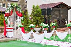 Ślubnej ceremonii dekoracja Obraz Stock