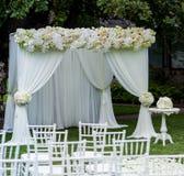 Ślubnej ceremonii dekoracje Fotografia Royalty Free