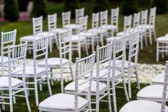 Ślubnej ceremonii dekoracje obrazy royalty free