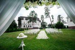 Ślubnej ceremonii dekoracje zdjęcia royalty free