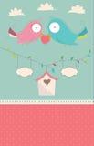 Ślubnej karty wektor Obrazy Royalty Free