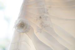 Ślubnej sukni kwiat Zdjęcia Stock