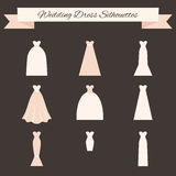 Ślubnej sukni styl Zdjęcia Stock