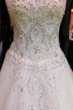 Ślubnej sukni szczegół Obrazy Royalty Free