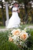 Ślubni bukiety Obrazy Royalty Free