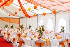 Ślubni stoły Obrazy Stock