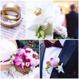Ślubni tematów wizerunki Fotografia Royalty Free