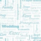 Ślubny bezszwowy wzór Zdjęcia Stock