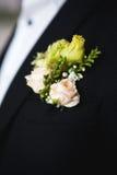 Ślubny boutonniere Zdjęcia Royalty Free