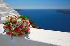 Ślubny bukiet, Santorini, Grecja Zdjęcia Royalty Free