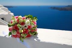Ślubny bukiet, Santorini, Grecja Obrazy Stock