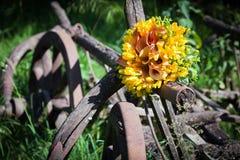 Ślubny bukiet z fresia kwiatami zdjęcia royalty free