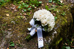 Ślubny bukiet z kędziorkiem Zdjęcie Royalty Free