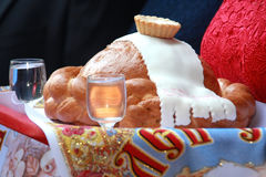 Ślubny chleb Fotografia Royalty Free