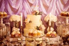 Ślubny cukierku bar Zdjęcia Royalty Free