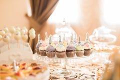 Ślubny cukierku bar Żywy Zdjęcia Stock