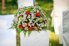 Ślubny dekoracja bukiet kwiaty Obrazy Stock