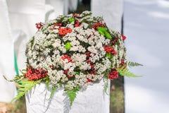 Ślubny dekoracja bukiet kwiaty Zdjęcia Royalty Free