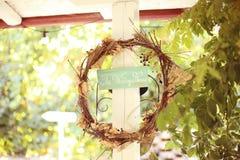 Ślubny domu znak Zdjęcie Royalty Free