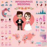 Ślubny infographics Obrazy Royalty Free