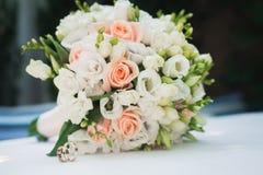 Ślubny kwiatu bukiet Fotografia Royalty Free