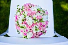 Ślubny kwiatu bukiet Zdjęcia Stock