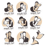 Ślubny logo Obrazy Stock