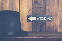 Ślubny plakat Obrazy Stock