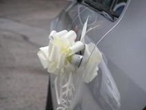 Ślubny samochód Fotografia Stock