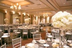 Ślubny stołowy wystrój Obrazy Royalty Free