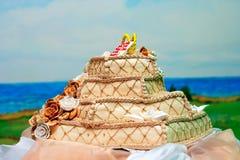 Ślubny tort Zdjęcia Stock