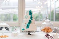 Ślubny tort Obrazy Royalty Free