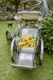 Ślubny wystrój cyclo i kwiat Zdjęcie Royalty Free