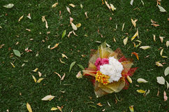 Ślubny wystrój kwiaty zdjęcie stock
