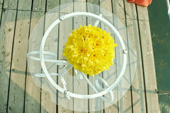 Ślubny wystrój kwitnie w korala stylu Obraz Stock