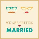 Ślubny zaproszenie karty szablon Zdjęcia Royalty Free