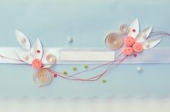 Ślubny Zaproszenie lub Powitanie Crad Fotografia Stock