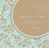 Ślubny zaproszenie lub zawiadomienie Zdjęcie Stock