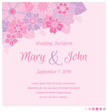Ślubny zaproszenie projekta szablon Zdjęcie Royalty Free