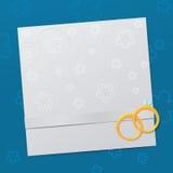 Ślubny zaproszenie szablon Fotografia Stock