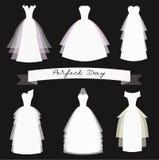 Ślubnych sukni wektoru set Zdjęcie Stock
