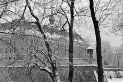 Lubomirski城堡在Rzeszow,波兰 免版税库存照片