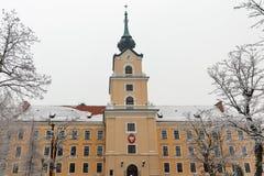 Lubomirski城堡塔在Rzeszow,波兰 图库摄影