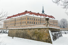 Lubomirski castle in Rzeszow, Poland. Winter Lubomirski castle in Rzeszow, Poland Royalty Free Stock Images