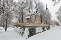 Lubomirski castle in Rzeszow, Poland. Winter Lubomirski castle in Rzeszow, Poland Royalty Free Stock Photography