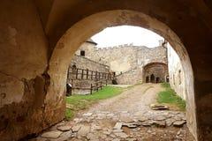 Lubovna城堡在斯洛伐克 图库摄影