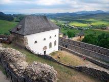 从Lubovna,斯洛伐克城堡的外型  库存照片